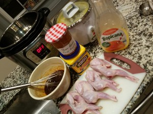 Quail in Orange Sauce with Grand Marnier