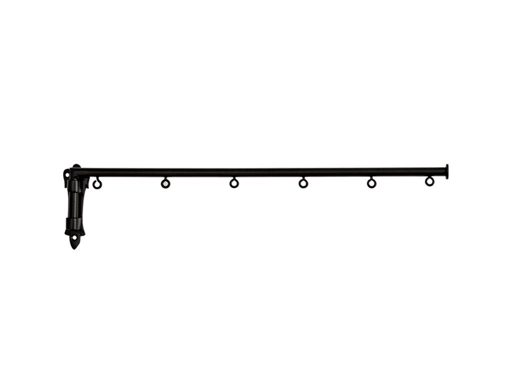 wrought iron drapery rods swing arms