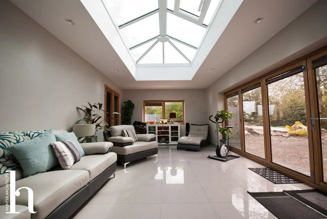 Completed orangery linking extension to existing Annexe