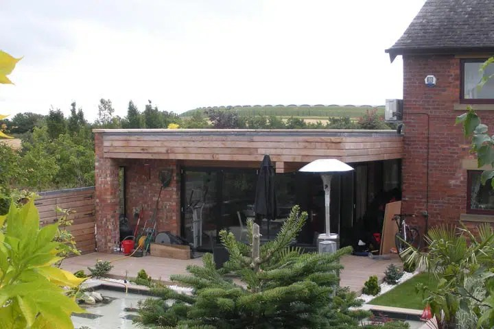 Cheshire Single Storey Contemporay Garden Room Extension
