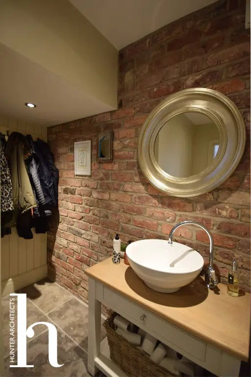 Cloakroom in new build home in Hale Altrincham