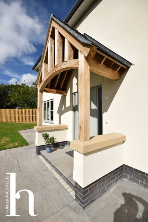 Oak porch by Hunter Architects RIBA