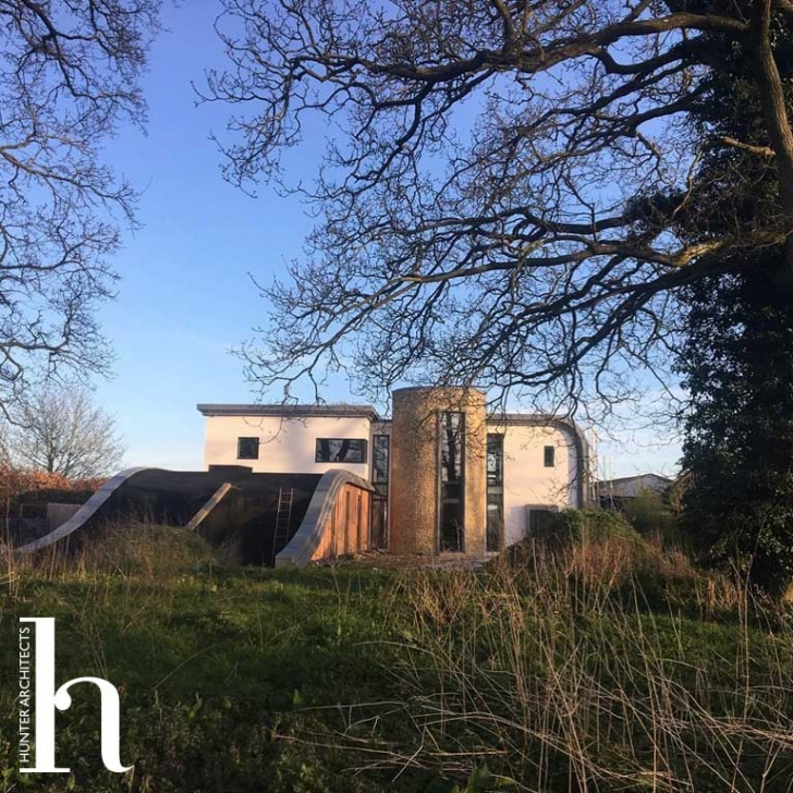 Innovative Green Roof Home in Open Countryside - Architects Planning Permission - Para 79 Home