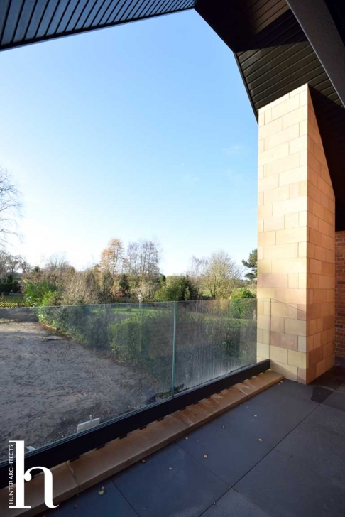 Bedroom Balcony with views over countryside - Architect designed