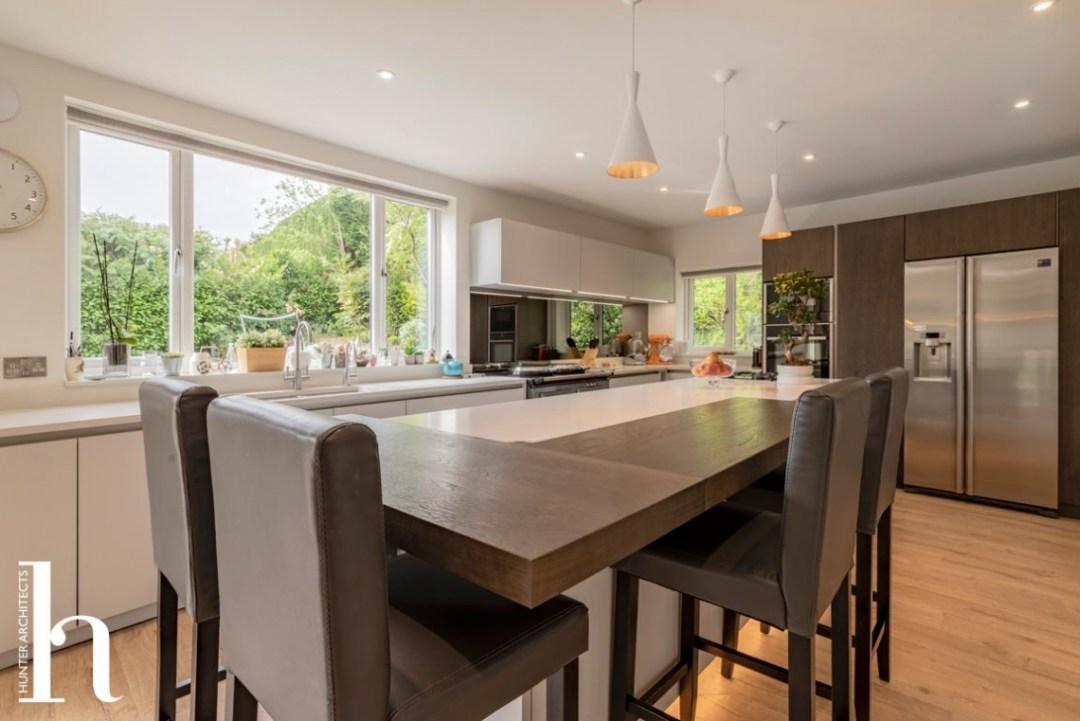 High quality contemporary kitchen in Prestbury