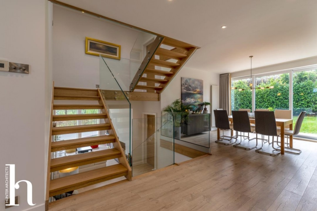 Opening up the existing staircase