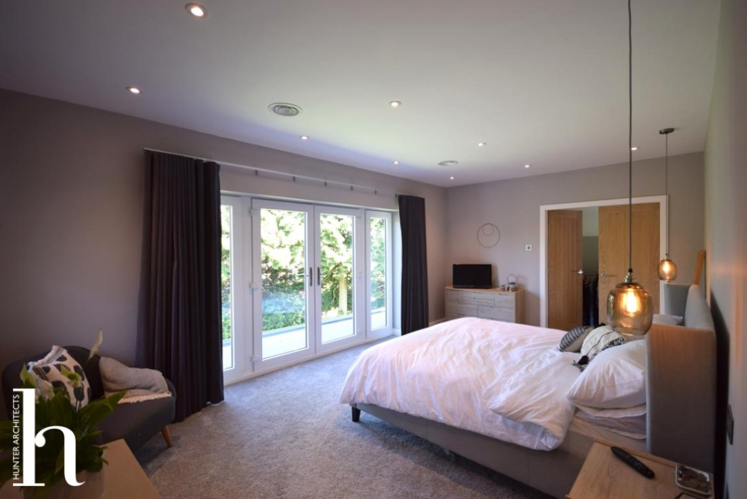 Altrincham house extension master bedroom suite dressing room