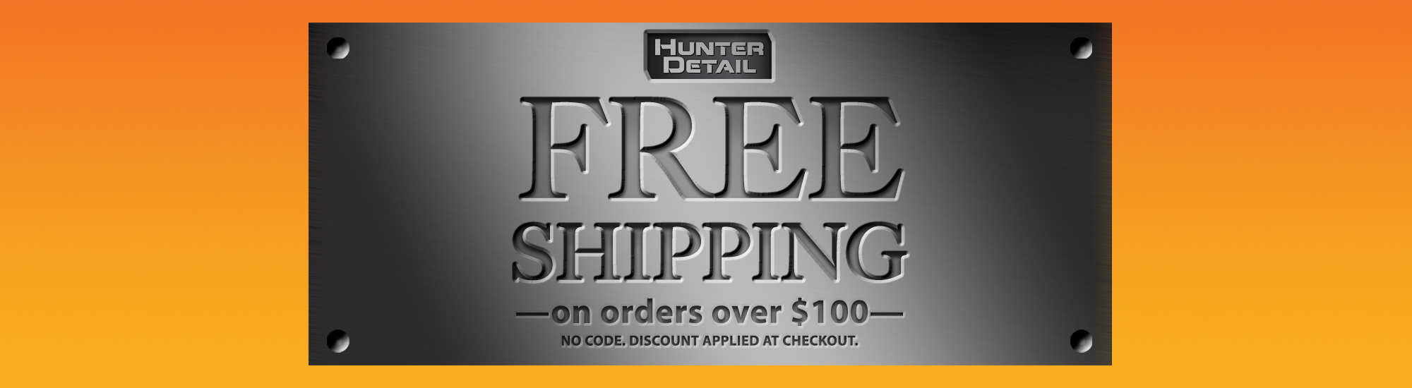 Hunter Detail Free Shipping over $100