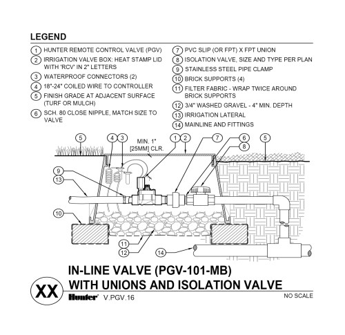 small resolution of cad pgv 101 mb with unions and shutoff valve