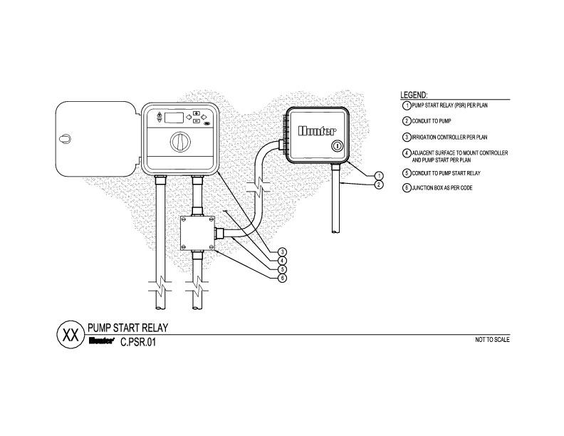 24v starter relay wiring diagram kia picanto radio pump start hunter industries cad
