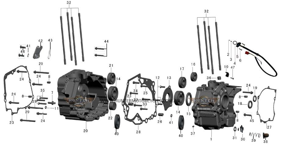 350 EFI : Gasket LH C/case inner 250/350