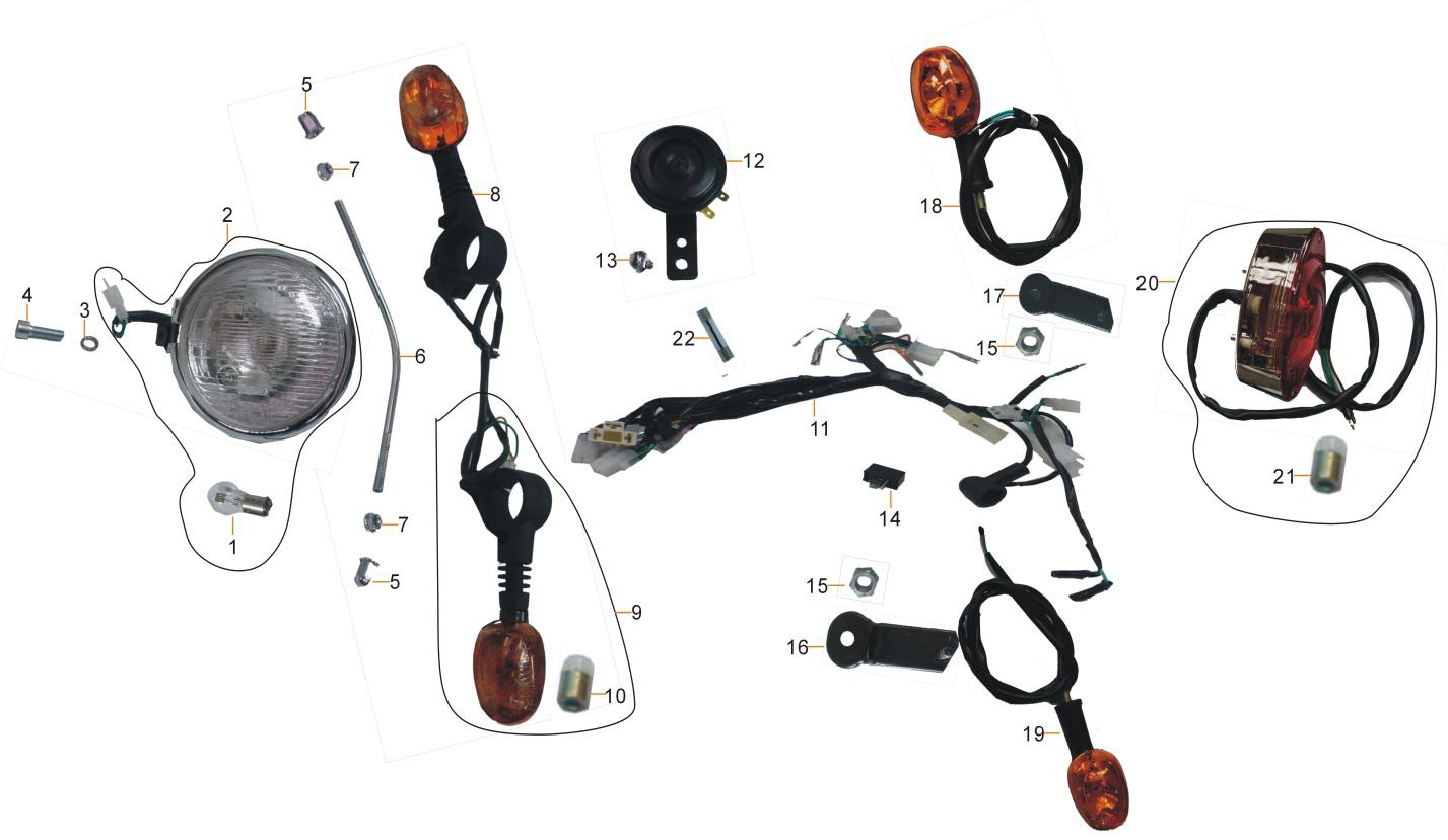 Lights : Main cable Wiring loom Bobber