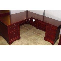 Folding Chair Liquidation Gravity Home Depot Traditional Wood L-shape Desk - Hunter Office Furniture