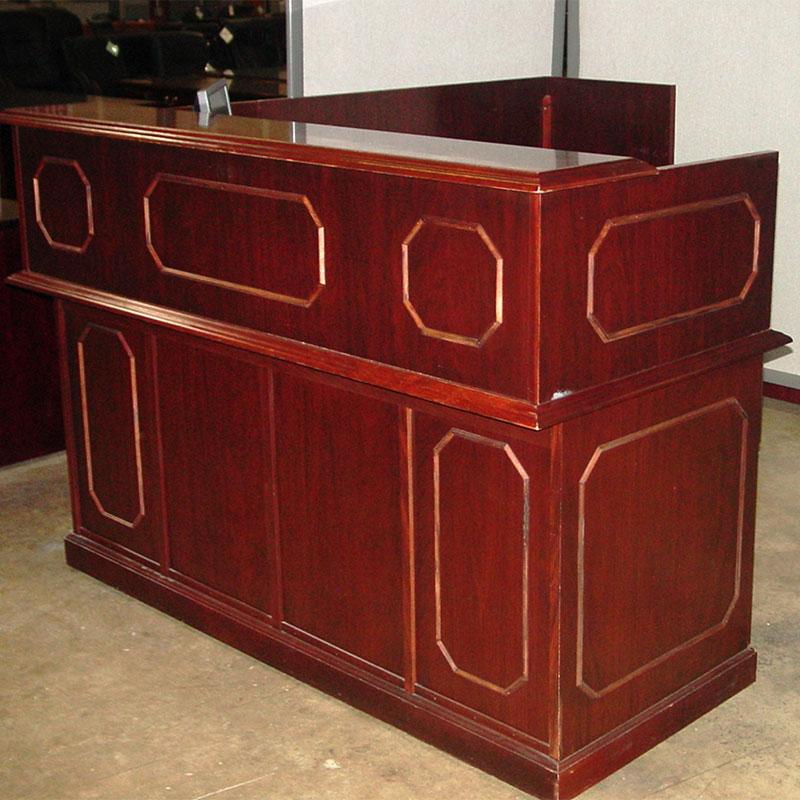 Dallas Office Furniture  Traditional Reception Desk  New