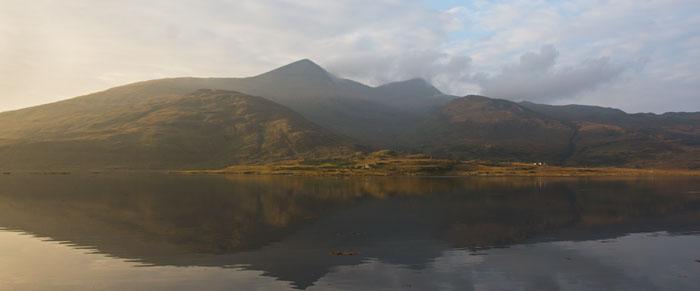 Beinn Mhor, Isle of Mull, Scotland, reflections.