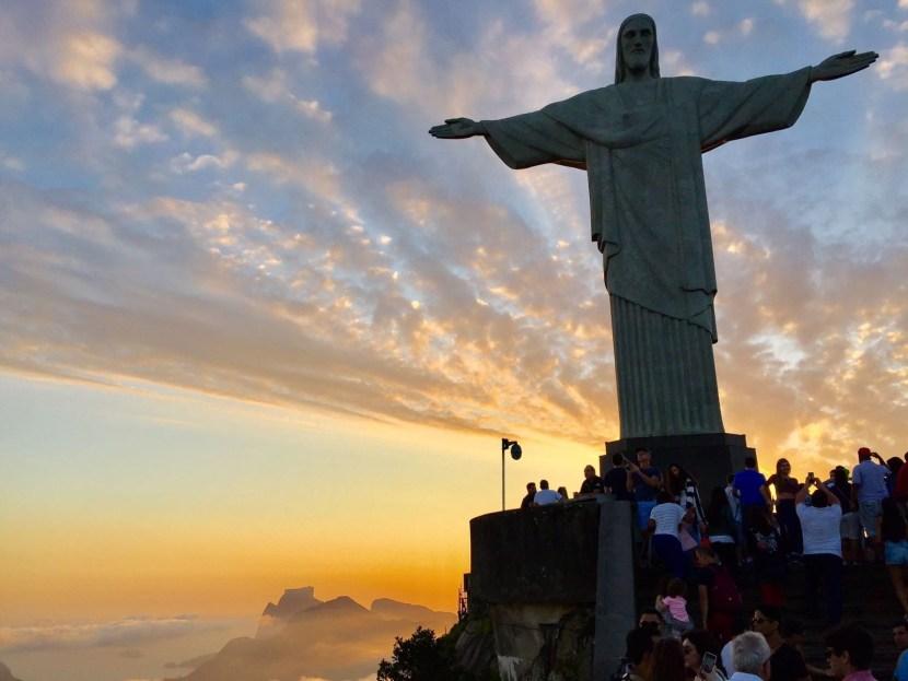 sunset, featured, Christo Redentor, Rio de Janeiro