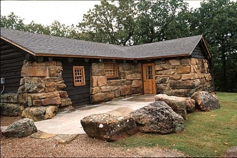 sofa sleeper for cabin gray corner bed lodging jones southern oklahoma quail and pheasant hunts bunk beds two roll away living area with fireplace half bathrooms wet bar picnic table grill private dock