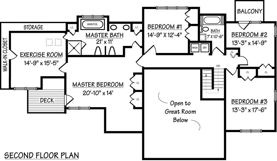 Dimensional Floor Plans of Hampton Shingle Home