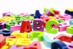 colorful letter blocks