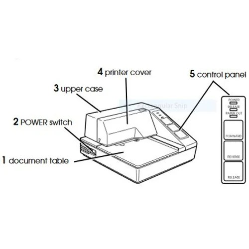 Epson TM-U295 Dot Matrix Printer Monochrome Desktop