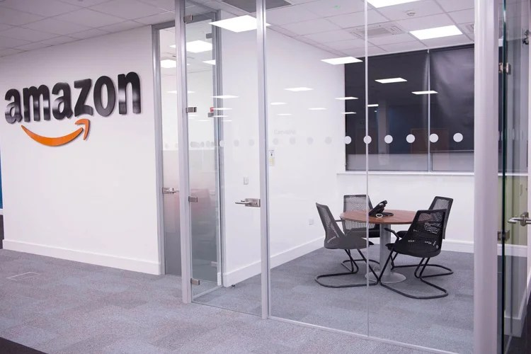 Glazed Office Partitioning Project Amazon Office Fitout