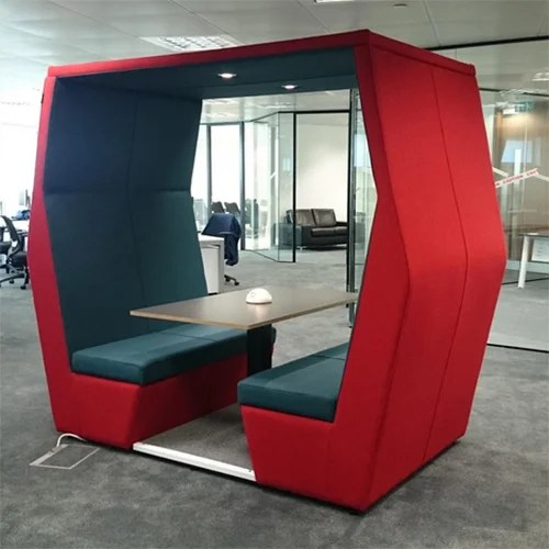 how to chair the meeting multipurpose gym pod bill 4 seater red - huntoffice.ie