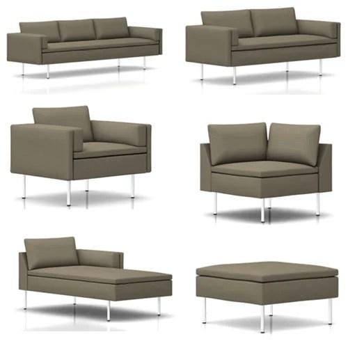 chloe on tufted velvet sofa bernhardt leather with nailhead trim bolster pair of walken black cushions in ...