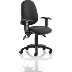 Office Chair Adjustment Levers Unfinished Wood Kitchen Chairs Eclipse Iii Lever Task Operator Black With Height Adjustable Arms Usage 8