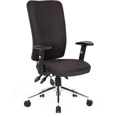 Ergonomic Chair Levers Green Computer Chiro High Back Task Operators Office Black With Arms 24 7 Usage