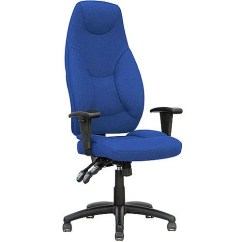 Posture Promoting Chair Liberty Task Galaxy Operator Office Blue Fabric High Back With Arms Huntoffice Ie