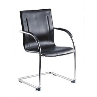 Cantilever Leather Visitor Chair - HuntOffice.ie