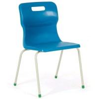 Titan 4 Leg Polypropylene School Chair Size 6 Blue ...
