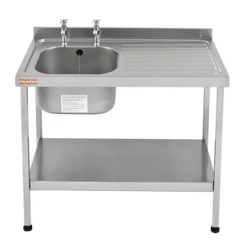 commercial kitchen sink costco faucet single stainless steel with right hand drainer wxl mm 600x1000 stand