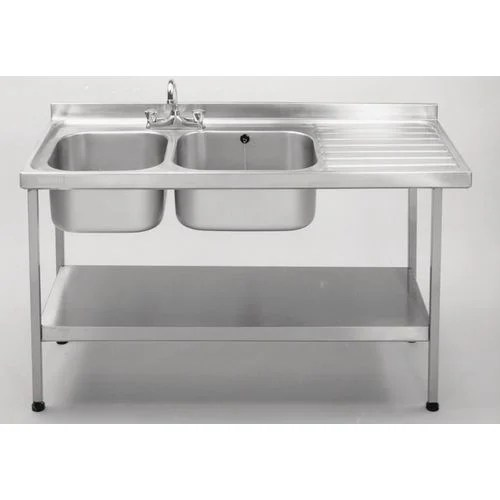 commercial kitchen sink ikea cabinets reviews single stainless steel with right hand drainer wxl mm 600x1500 double
