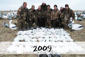 2009 snow goose hunt photos