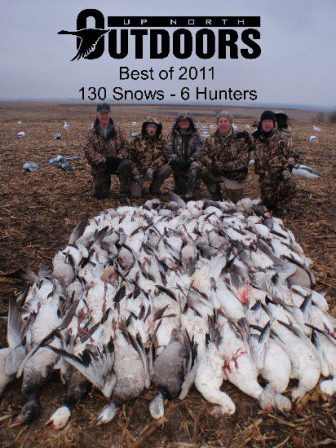 Best of our 2011 snow goose hunts. Five hunters shot 130 snows.
