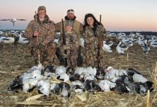 Nothing but smiles for these young hunters as the pose for a picture with their guide Mark Orton.