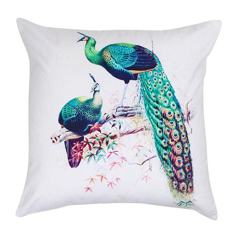 Royal Peacock Cushion 45x45cm  Hupper