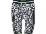 35C-34323 Baby jogging trousers White + blue aop