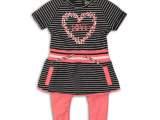 31C-34407 2 pce babysuit Black/white stripe +