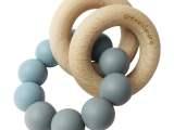 Basic Rattle Donker Grijs / Dusty Bleu