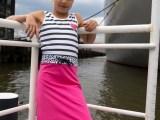 Maxi dress Joan Pink Grey
