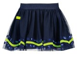 Girls netting skirt with sequince detail at hem space blue