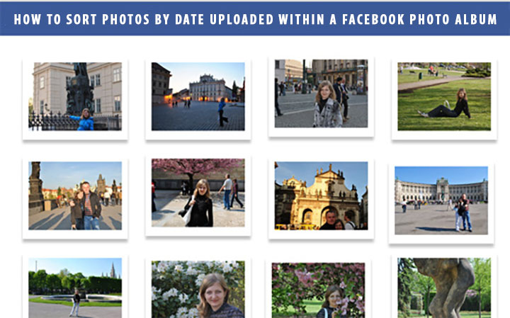 How to sort photos by date uploaded within a Facebook photo