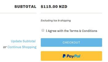 How to remove the additional checkout buttons on cart page