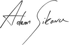 Adam Sikora podpis