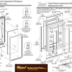 Parts Of A Window Frame Diagram Gmc Sierra Stereo Wiring Hurd Casement Assembly