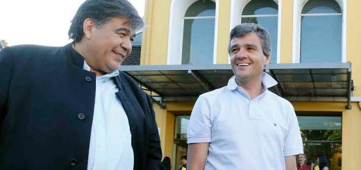 Juan Zabaleta y Mario Ishii