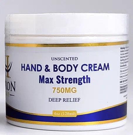 Hand & Body Cream 750mg Max Strength