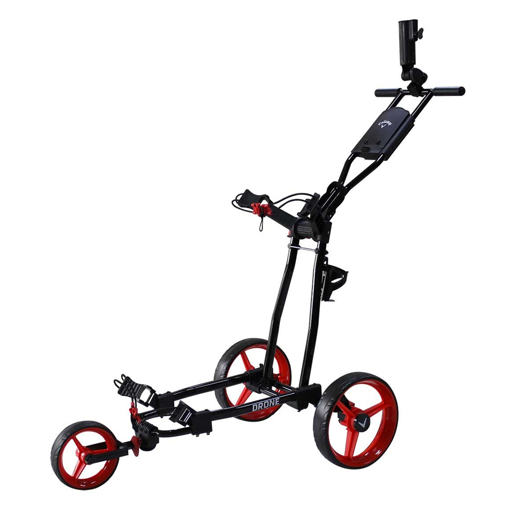 NEW Callaway Golf Drone Push Cart Black/Red DRINK HOLDER
